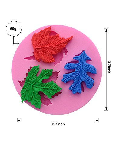 Sharlity 4Pcs Assorted Leaf Silicone Candy Mold for Sugarcraft Chocolate Fondant Resin Polymer Clay by Sharlity (Image #2)'