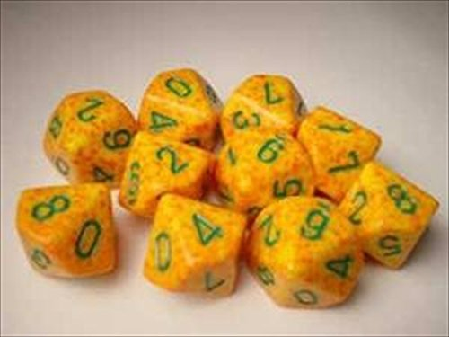Chessex Dice Sets: Lotus Speckled - Ten Sided Die d10 Set (10)