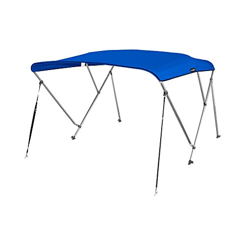 MSC Standard 3 Bow Bimini Boat Top Cover with Rear Support Pole and Storage Boot (Pacific Blue, 3 Bow 6'L x 46
