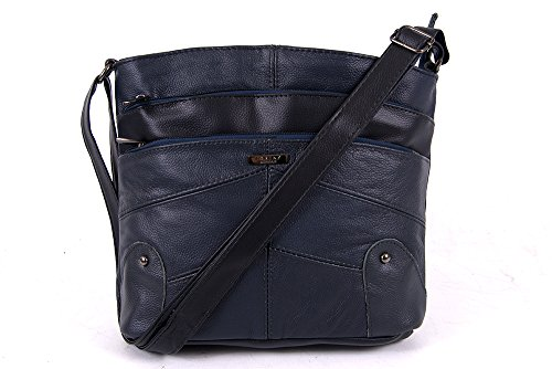 100 leather Lorenz fine shoulder handbag Navy Soft Lorenz 3741 100 qwpExXPw
