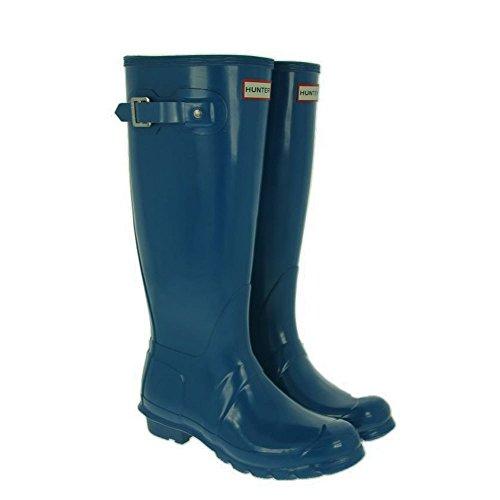 Hunters Original Tall Gloss - Botas de agua, color: Azul Ocean Blue Gloss