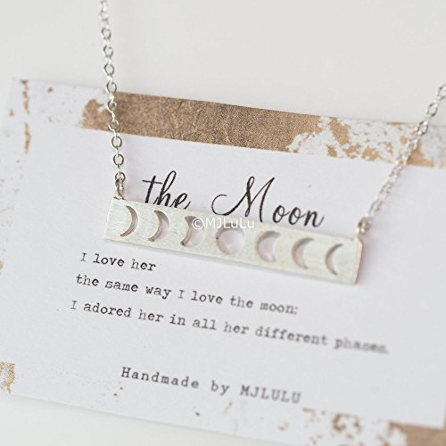 Moon Phases Sterling Silver Necklace product image