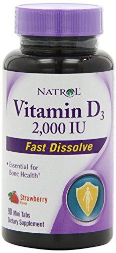 Natrol Vitamin 2000iu Strawberry Bottles