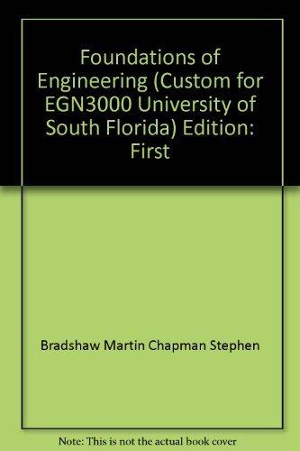 EGN 3000 Foundations of Engineering University of South Florida pdf epub