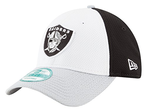 NFL Oakland Raiders Perf Block 2 9FORTY Adjustable Cap, One Size, White/Team Color (Nfl Caps compare prices)
