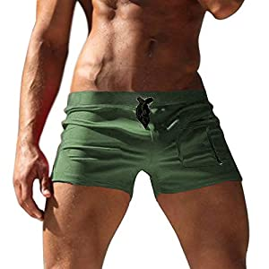 COOFANDY Men's Swimming Trunks Boxer Brief Swim Underwear with Zipper Pocket