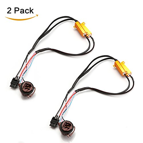 ONEVER 3175 50W 6Ohm LED Load Resistors Warning Canceller Anti Flicker Pack of 2