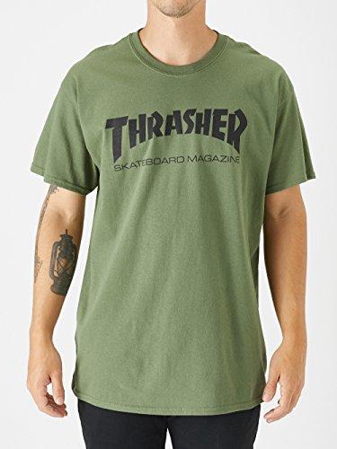 b2777ad73738 Thrasher Men's Skateboard Magazine Logo T-Shirt,Army Green,XX-Large
