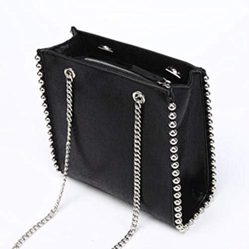 ZWQ Damen Umhängetaschen Retro Large Capacity Einkaufstasche Lady Leather Messenger Bags, schwarz, klein