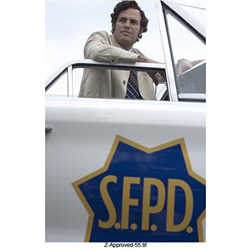 - Zodiac (2007) 8 inch x 10 inch Photo Mark Ruffalo in Khahi Trench Coat Leaning on SFPD Car Door kn