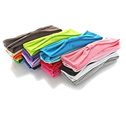 Jersey Cotton Knit Headbands - Child Size - 40 pack