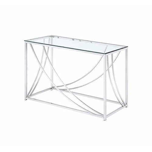 Coaster 720499-CO Glass Top Console Table, Chrome (Tables Asian Console Style)