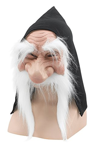 Bristol Novelty BM232A Gnome with Hood/Beard White Mask, One Size for $<!--$13.10-->