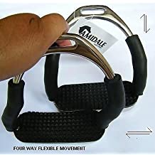 Amidale Four Way Flexi Safety Stirrups Iron S/S Four Way Movement 4.5 Inches by Amidale