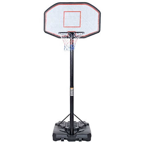 """Sports God 10' Adjustable Portable Basketball Hoop System with 43"""" Backboard (Basketball Hoop And Stand Portable)"""
