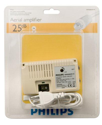 blanco Philips SWS2065W//10 25 dB, 50 Hz, 2.8 W Amplificador de se/ñal para equipos por sat/élite