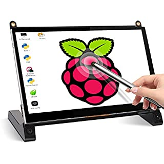 Touchscreen Monitor, EVICIV 7 Inch Portable USB Monitor Raspberry Pi Touch Screen IPS Display Computer Monitor 1024X600 16:9 Game Monitor for Pi 4/3 /2/ Zero/B Raspbian Ubuntu Xbox /PS4 Mac