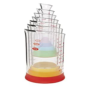 OXO Good Grips 7-Piece Nesting Measuring Beaker Set, Multicolored