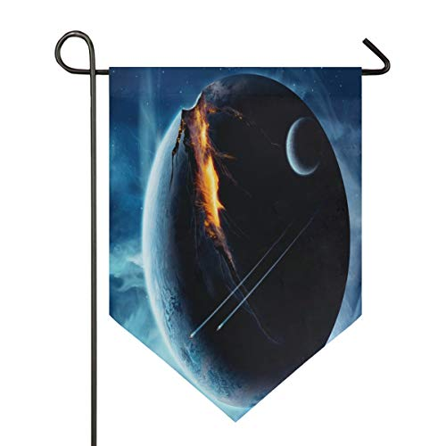 Great Planet Garden Flag Indoor & Outdoor Decorative Flags for Parade Sports Game Family Party Wall Banner Season Porch Lawn Double Sided 28 x 40 inches