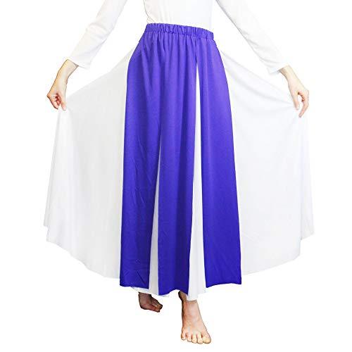 Danzcue Praise Dance Streamer Skirt, Deep Purple, S-M-Adult]()