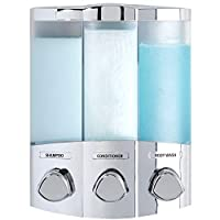 Better Living Products 76344-1 Euro Series TRIO Dispensador de jabón y ducha de 3 cámaras, cromo