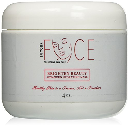 Brighten Beauty Advance Hydration mask -4 OZ Peptides with lasting hydration, lightweight gel mask. Organic Hyaluronic Acid, Aloe, &Jojoba oils hydrate, moisturize, & balance the - Cream Advance Hydration