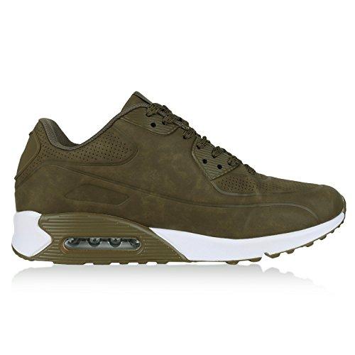 diansen® running Flyknit Boost inspirado entrenador Fitness gimnasio deportes zapatos (tamaño 6–11) Dunkelgrün Grün Weiss
