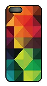 Colorful Diamonds PC Case Cover for iPhone 5 and iPhone 5s Black