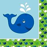Creative Converting Ocean Preppy Boy Birthday Luncheon Napkins, 16-Count