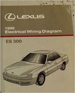 1996 lexus es300 es 300 service shop repair manual set w wiring diagram  book: lexus: amazon com: books
