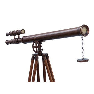 Hampton Nautical  ST-0124-BZ Floor Standing Griffith Astro Telescope, 65'', Bronze by Hampton Nautical