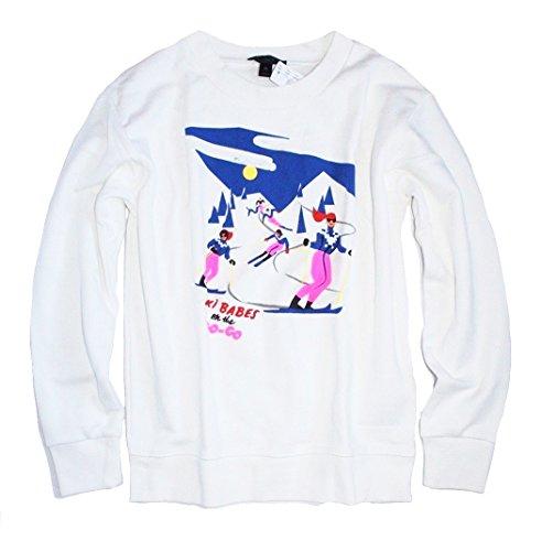 J Crew - Women's Ski Babes Graphic Sweatshirt (Medium)