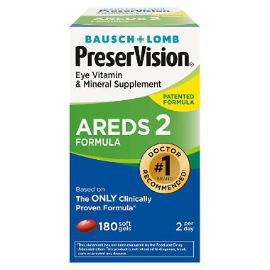 PreserVision AREDS 2 Eye Vitamin & Mineral Supplement with Lutein and Zeaxanthin, Soft Gels, 2 Pack (210ct Each) PER#JGE PreserVision-LE by PreserVision (Image #1)