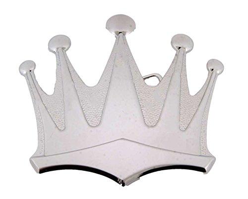 Silver Royal Crown Belt Buckle Hip Hop Bling King Queen (Queen Buckles)