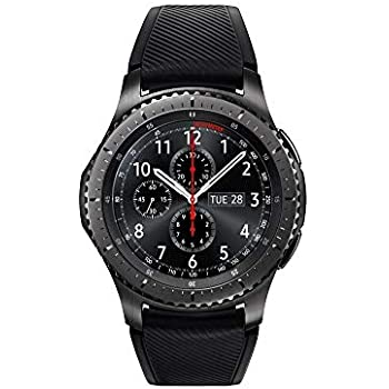 a222451c804 SAMSUNG GEAR S3 FRONTIER Smartwatch 46MM (Bluetooth Only) - Dark Grey  (Certified Refurbished)