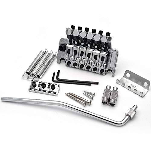 Tremolo System - Electric Guitar Tremolo Bridge Systems with logo Double Locking Edge with Whammy Bar Black Gold Chrome