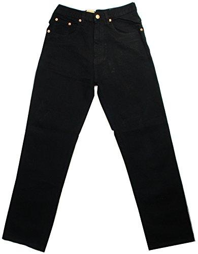 Aztec - Herren Männer Starke Regulärer Schnitt 100% Baumwolle Jeans - Schwarz, 34W x Kurz