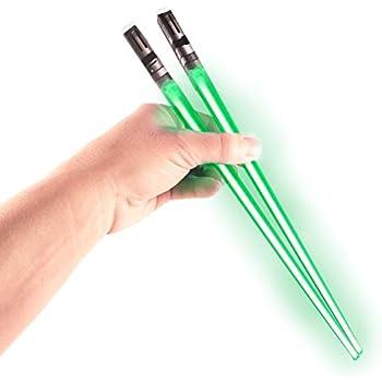 Chop Sabers Light Up Lightsaber Chopsticks, Green Pair