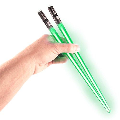 Chop Sabers Light Up Lightsaber Chopsticks, Green