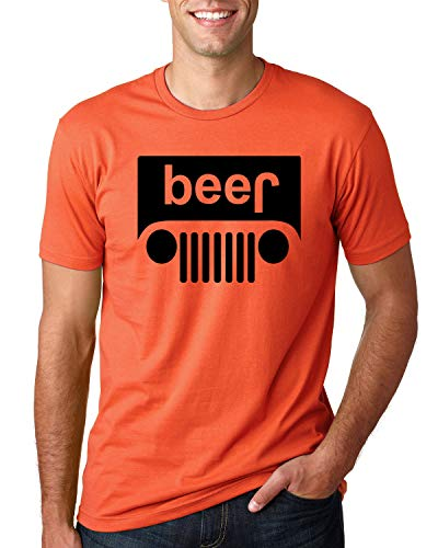 (Wild Bobby Beer Logo | Cars and Trucks Parody Humor Alcohol | Mens Drinking Tee Graphic T-Shirt, Orange Black,)