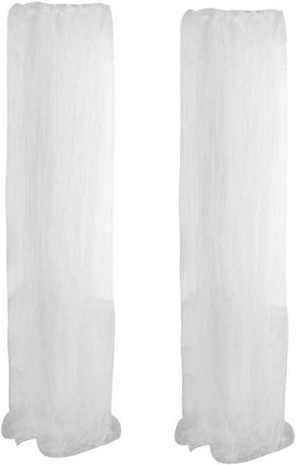 Renile - Cortinas de Tul para Ventana (2 Unidades), Color Transparente, Blanco, 100x130: Amazon.es: Hogar