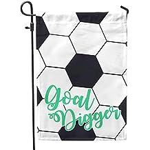 Second East Soccer Goal Garden Flag Summer Seasonal Holiday 12