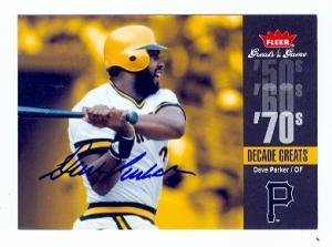 Dave Parker autographed Baseball Card (Pittsburgh Pirates) 2006 Feer Greats of the Game #DEC-DP Decade Greats ()
