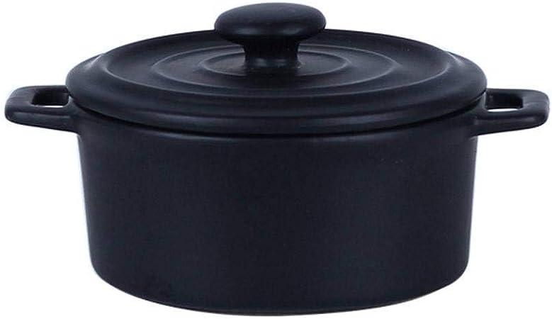 JLWM Cuenco para Sopa con 2 Asas Y Tapa, 360ML Cuencos para Sopa con Asas Horno Microonda Tazón De Porcelana Cerámico Cocina Huevo Al Vapor Horneando Bocadillo Yogur-Naranja: Amazon.es: Hogar