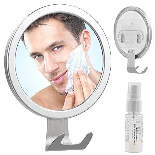 Fog Free Shower Mirror - LUXEAR Drill-Free Adhesive Bathroom Anti Fog Mirror -