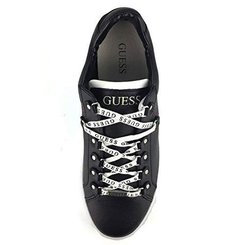 Cuir Fm5bar Jeans Sneakers En Barry Noir Lea12 Guess 4qz8w