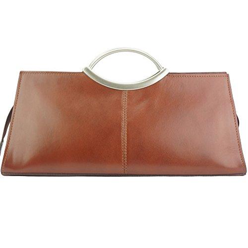 a in in marrone lucida Cipressino Florence 212 mercato pelle spalla Borsa pelle 1dHtq1w