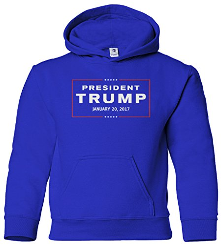 Threadrock Big Boys' President Trump Inauguration Day Youth Hoodie Sweatshirt L Royal Blue
