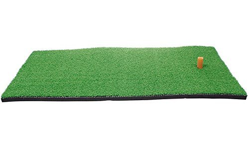 SINEDY 12''x24'' Residential Practice Indoor Putting Green Rubber Tee Holder Backyard Golf Mat