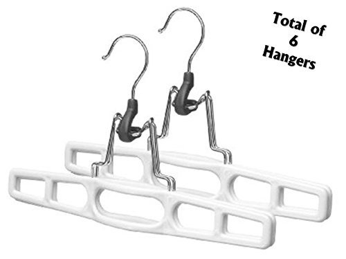 3 sets of 2 Skirt and Slack Hanger Clamp white (7'Hx 11''W) by Merrick Engineering